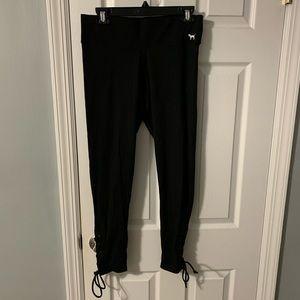 Black Victoria's Secret PINK leg tie leggings